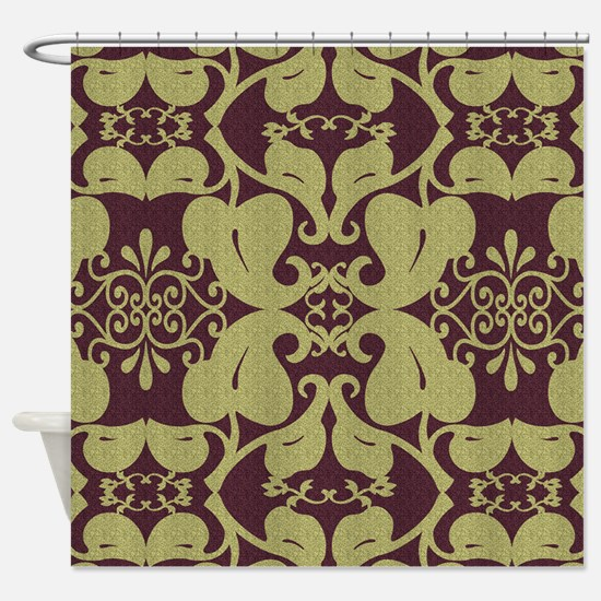 burgundy and gold shower curtain. Ornate Burgundy And Gold Shower Curtain Asian Red Curtains  CafePress