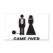 Game Over Rectangle Car Magnet