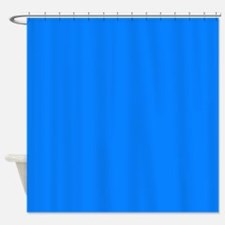 Solid Bright Blue Shower Curtain