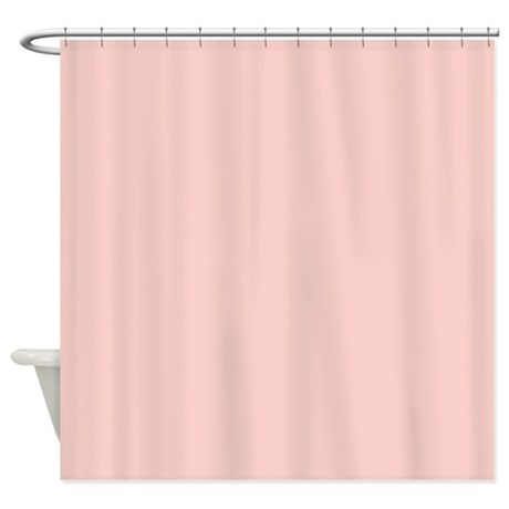 solid light pink shower curtain by bathtimedesigns
