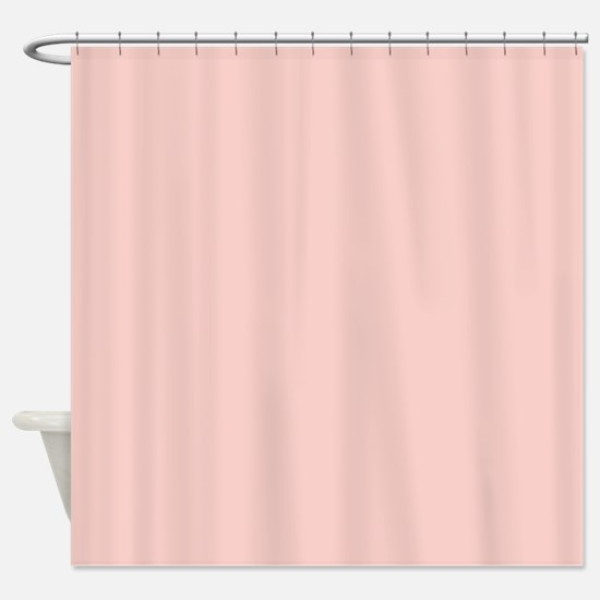 Solid Light Pink Shower Curtain