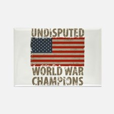 USA, Undisputed World War Champio Rectangle Magnet