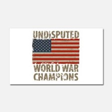 USA, Undisputed World War Champ Car Magnet 20 x 12