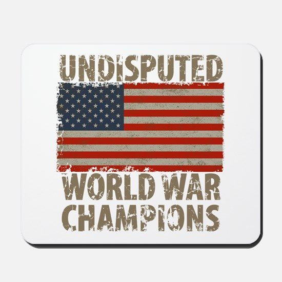 USA, Undisputed World War Champions Mousepad