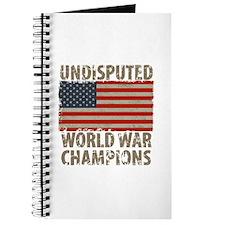USA, Undisputed World War Champions Journal