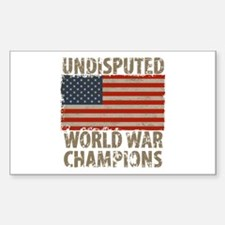 USA, Undisputed World War Cham Sticker (Rectangle)