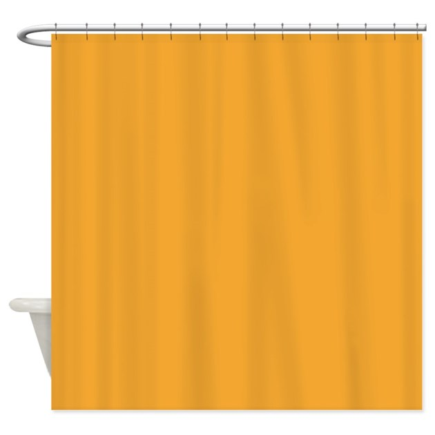 Blue and yellow shower curtain 2