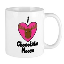I Love Chocolate Moose Mug