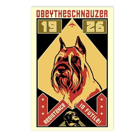 Schnauzer! 1926 Postcards (Package of 8)