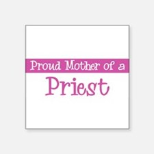 "Cute Priest Square Sticker 3"" x 3"""