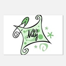 Due in May [Green] Postcards (Package of 8)