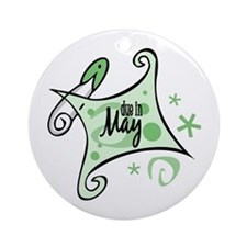 Due in May [Green] Ornament (Round)