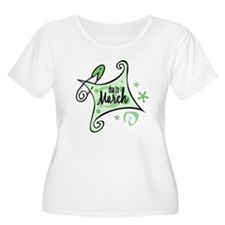 Due in March [Green] T-Shirt