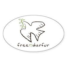Free Darfur, Sudan Oval Decal