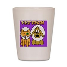 vet tech veterinary technician Shot Glass