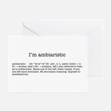 I'm ambiaristic Greeting Cards (Pk of 10)