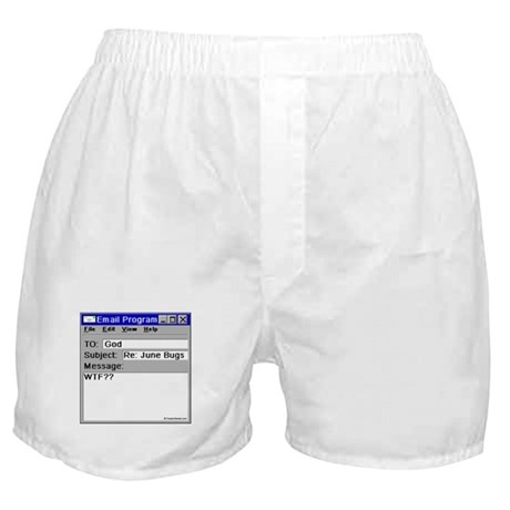 June Bugs: WTF? Boxer Shorts