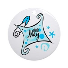 Due in May [Blue] Ornament (Round)
