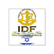 """Unique I star israel Square Sticker 3"""" x 3"""""""