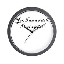 Yes, I am a witch... Wall Clock