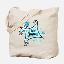 Due in June [Blue] Tote Bag