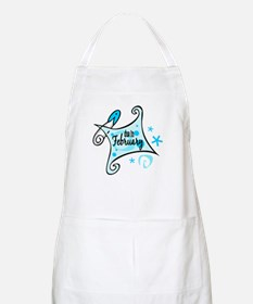 Due in February [Blue] BBQ Apron