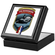 USS Mississippi SSN-782 Keepsake Box