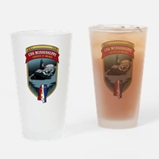 USS Mississippi SSN-782 Drinking Glass