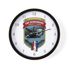 USS Mississippi SSN-782 Wall Clock
