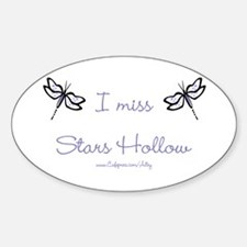I Miss Stars Hollow Oval Decal