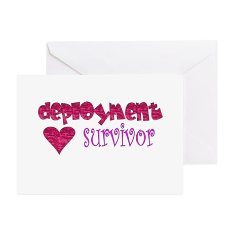 Deployment Survivor (Pink) Greeting Cards (Package