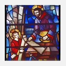 Jesus the Carpenter Tile Coaster
