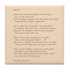 Christina Rossetti Poem Tile Coaster