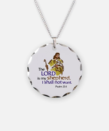 The Lord is my sheperd, Psal Necklace