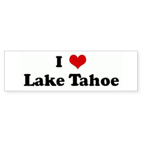 I Love Lake Tahoe Bumper Sticker