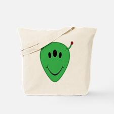 Alien Smiley Face Tote Bag
