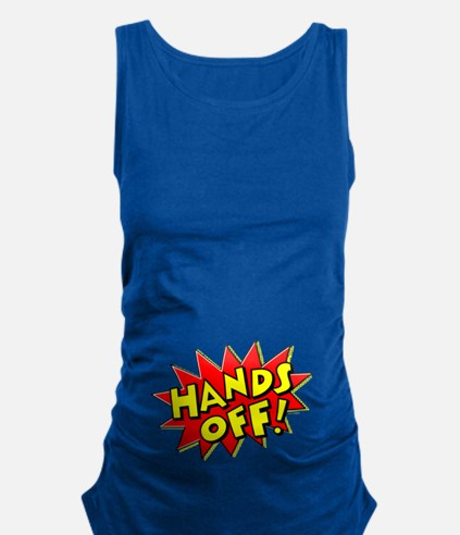 Hands Off Baby Bump Maternity Tank Top
