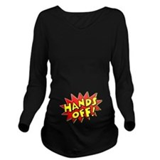 Hands Off Baby Bump Long Sleeve Maternity T-Shirt
