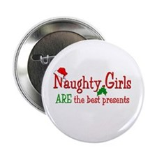 """Naughty Girl 2.25"""" Button (10 pack)"""