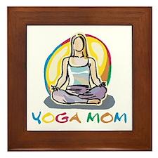 Yoga Mom Framed Tile