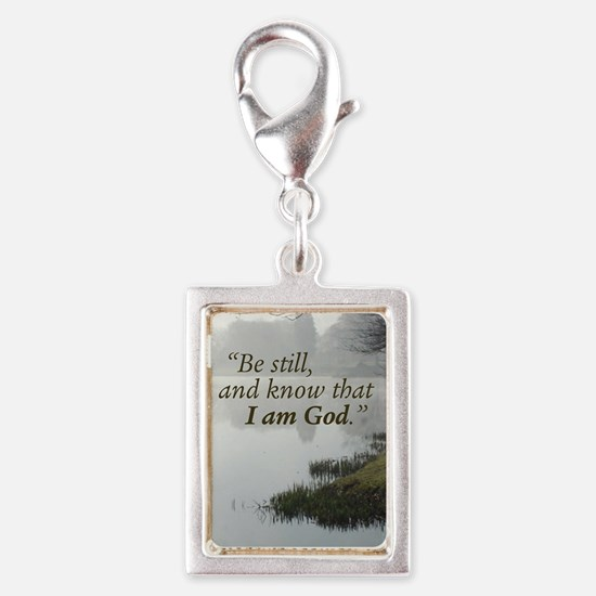 Be still and know that I am  Silver Portrait Charm