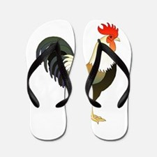 Cute Birds rooster Flip Flops