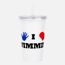 I Luv Swimming Acrylic Double-wall Tumbler