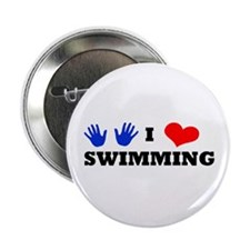 "I Luv Swimming 2.25"" Button"