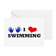 I Luv Swimming Greeting Card