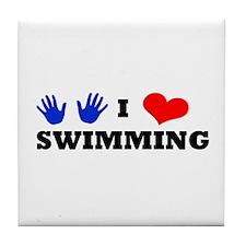 I Luv Swimming Tile Coaster