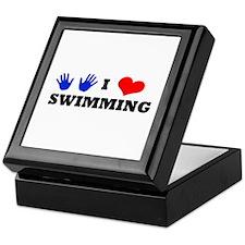 I Luv Swimming Keepsake Box