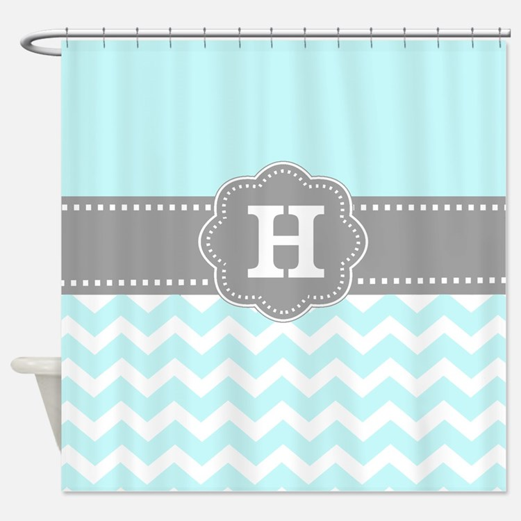 Aqua Blue Shower Curtains