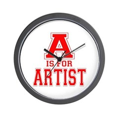 A is for Artist Wall Clock