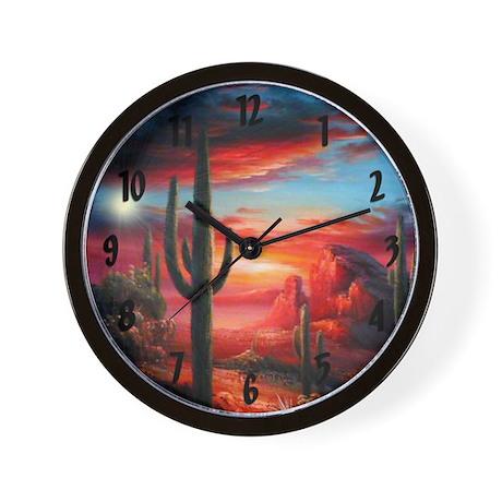 Desert Sunrise Wall Clock